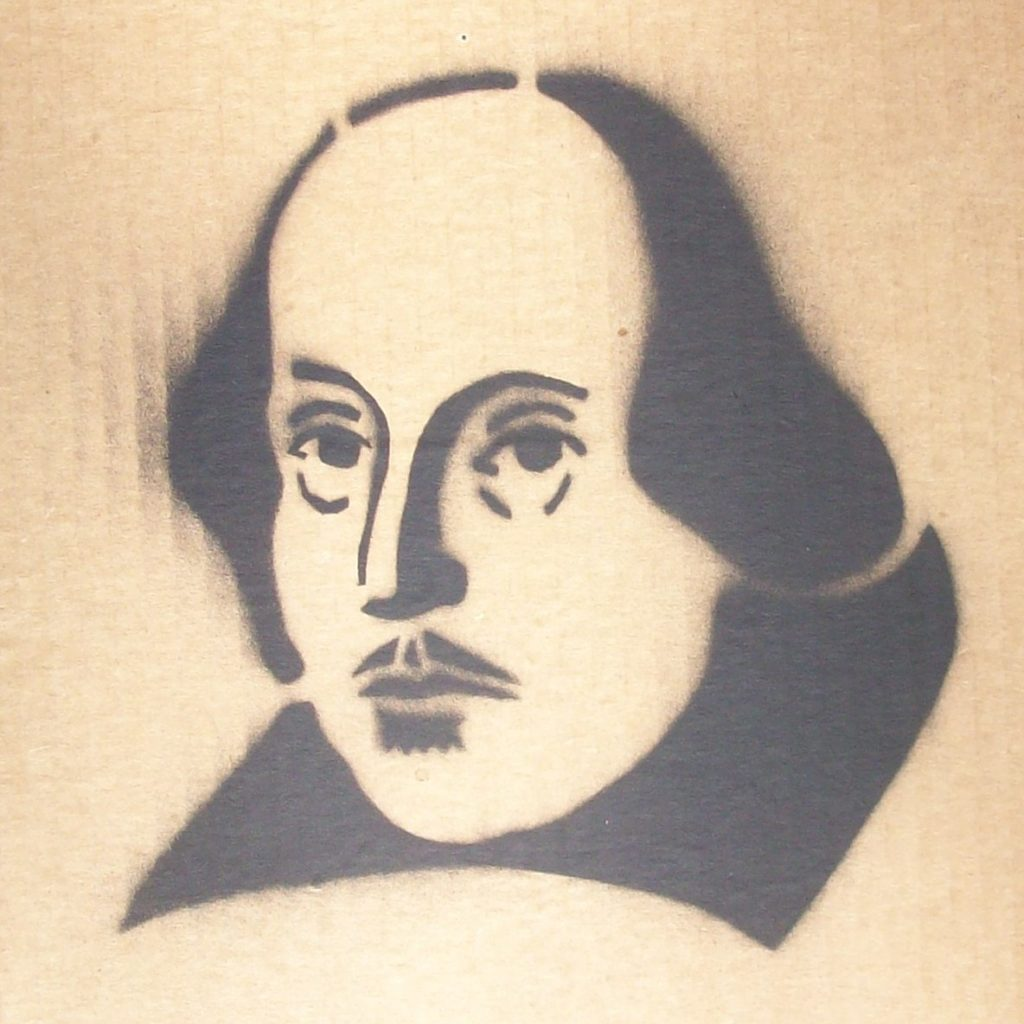 stencil of the bard