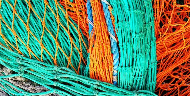 green and orange nets