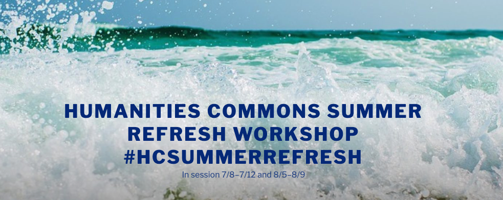 screenshot of the summer refresh workshop site header.