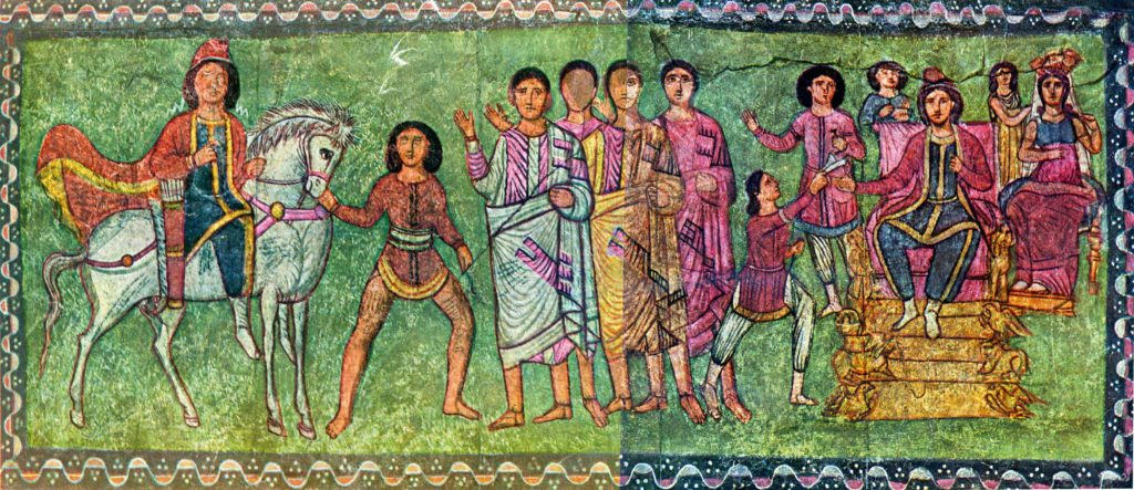 Fresco of Mordecai and Esther from Dura Europos