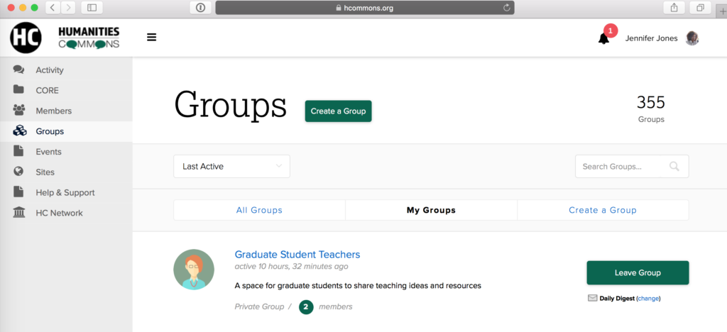 Safari - hcommons.org - Groups – Humanities Commons - Screen Shot October 21, 2016 at 9:48 PM