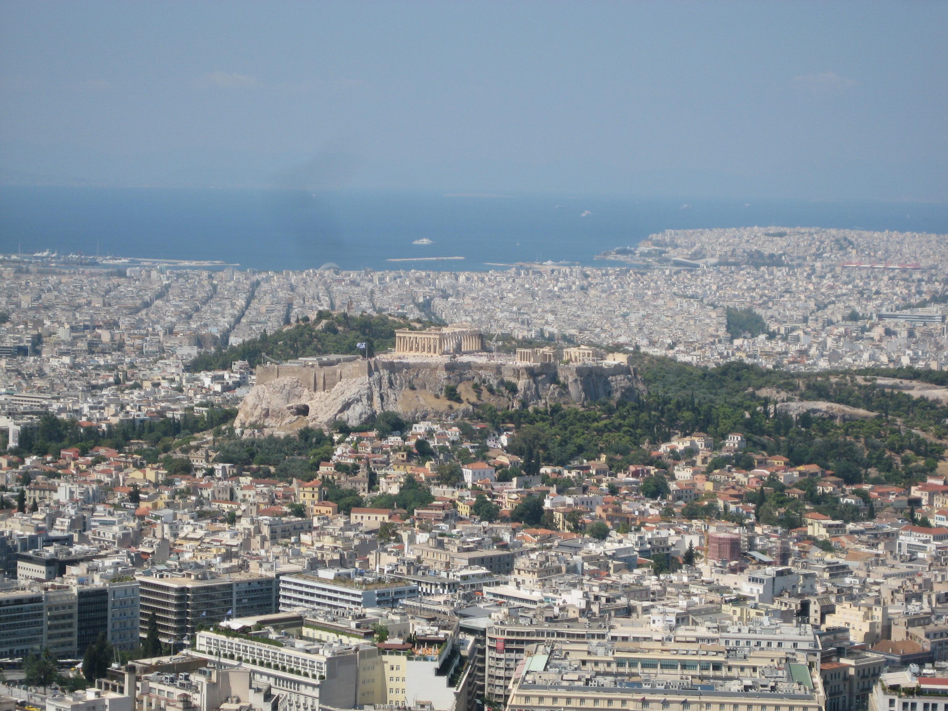 Athens from Mount Lykavittos