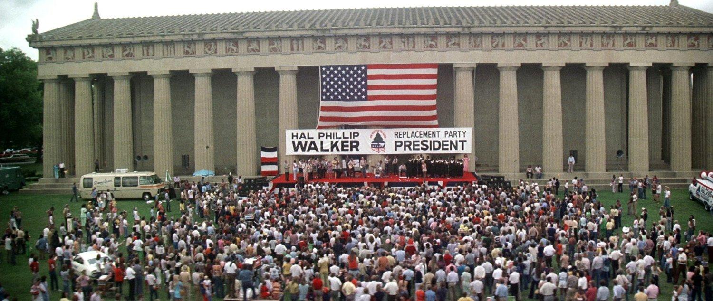 The final scene of Robert Altman's 1975 film Nashville, at the Parthenon.
