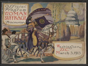 Cover of March 1913 Suffrage Parade Program