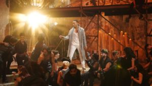 Image of John Legend as Christ on the set of JCS