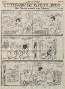 """""""Herr Reibeisel discovers a burglar,"""" Götz von Berlichingen, 1925/09/25, p. 5"""