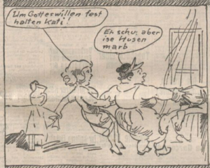 """A Dog Day at the Riebeisels'."" Der Götz von Berlichingen 1925/07/31, p. 5 (detail)."