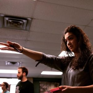 Nora leading a theatre workshop. Photo by Christian Ludwig Hansen