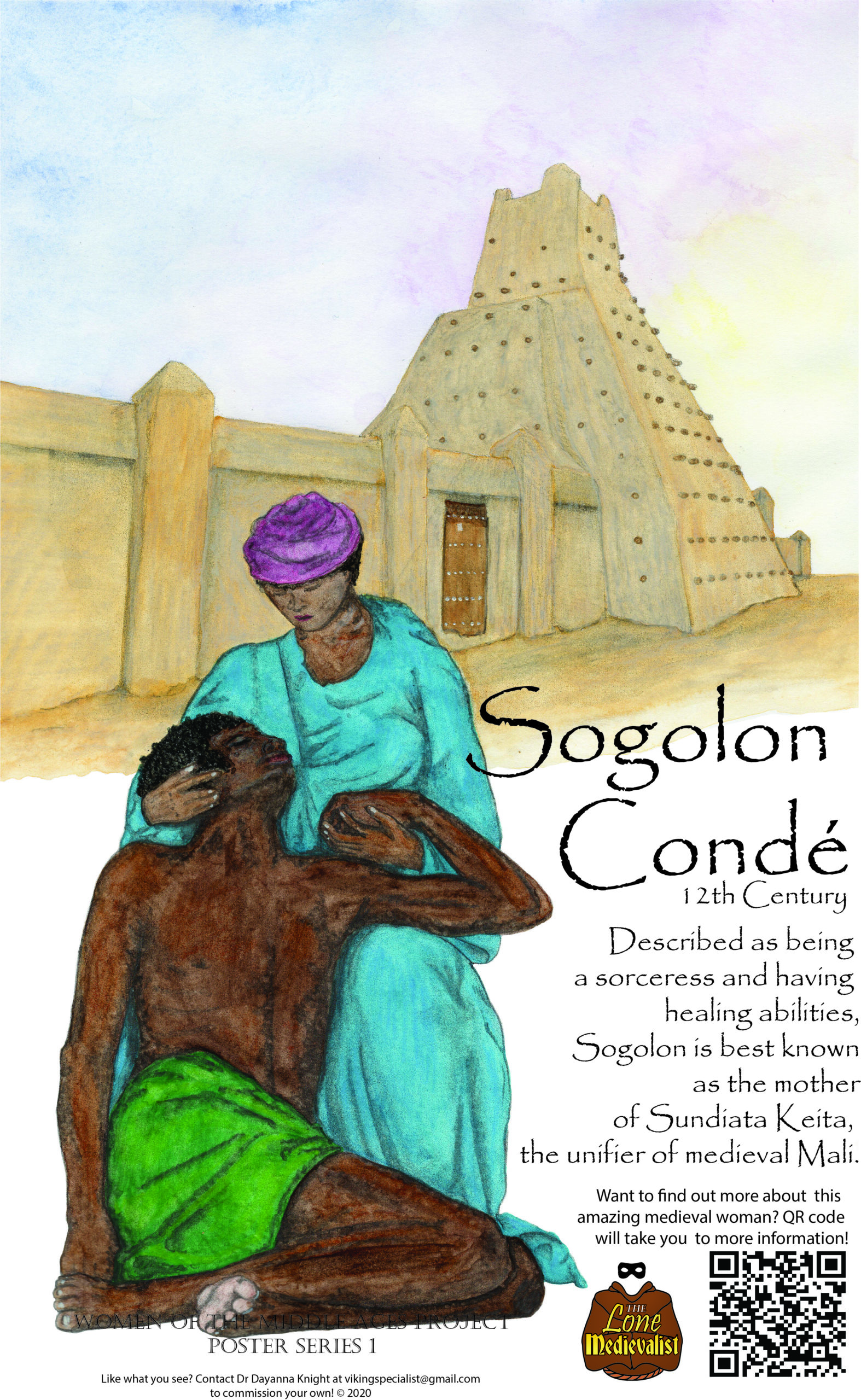 Poster with information about Sogolon Conde