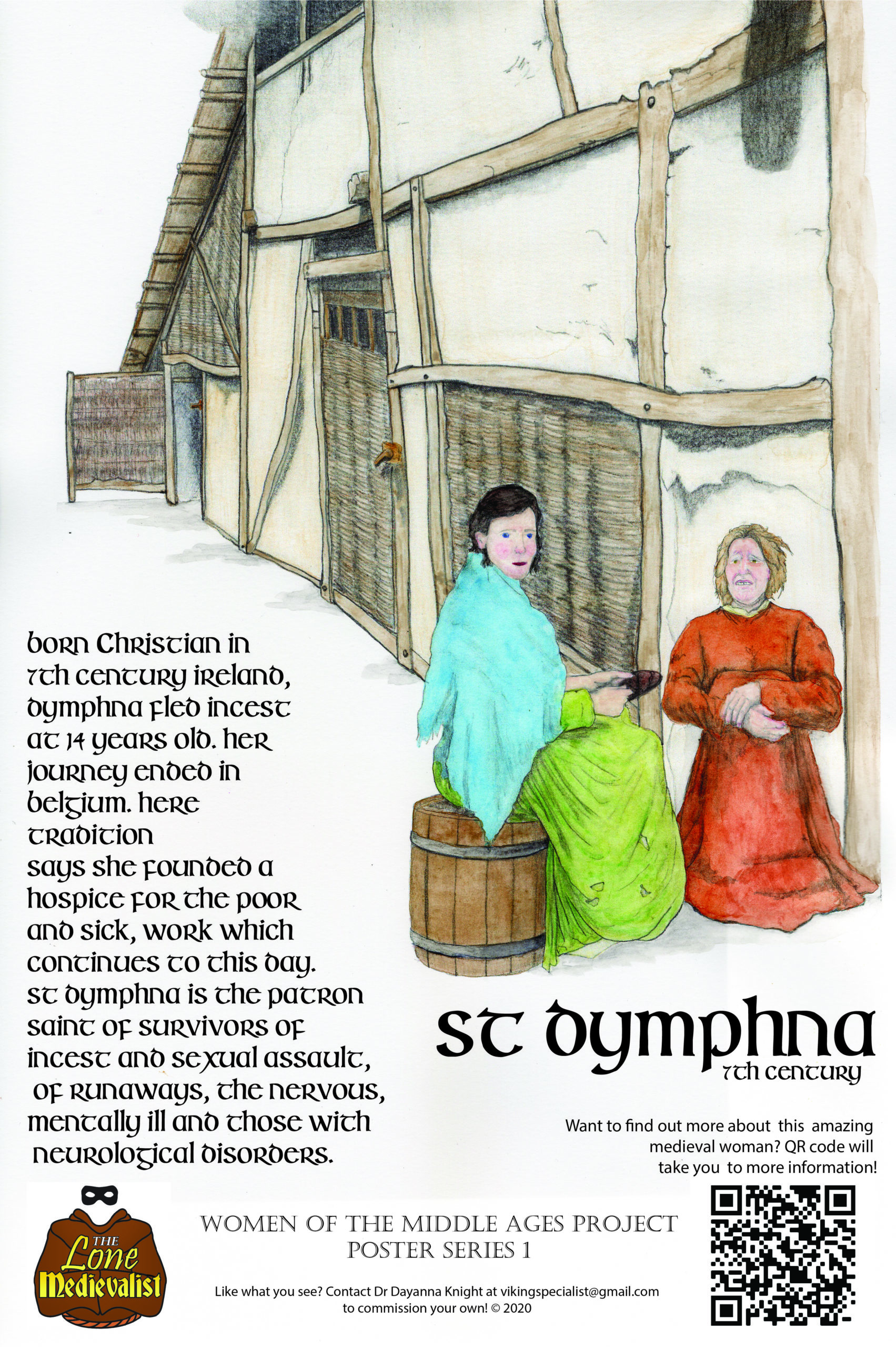 Poster with information about St Dymphna