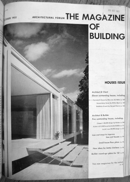 Forum Oct 1951 Farnsworth House on cover