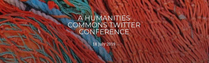 banner with Humanities Commons Twitter conference