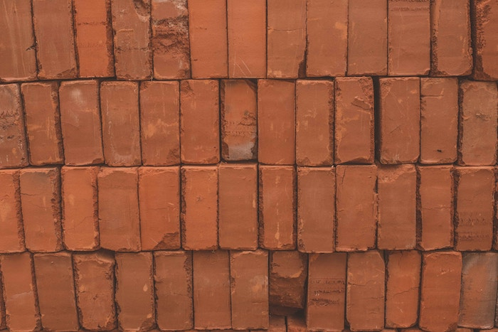 rows of bricks