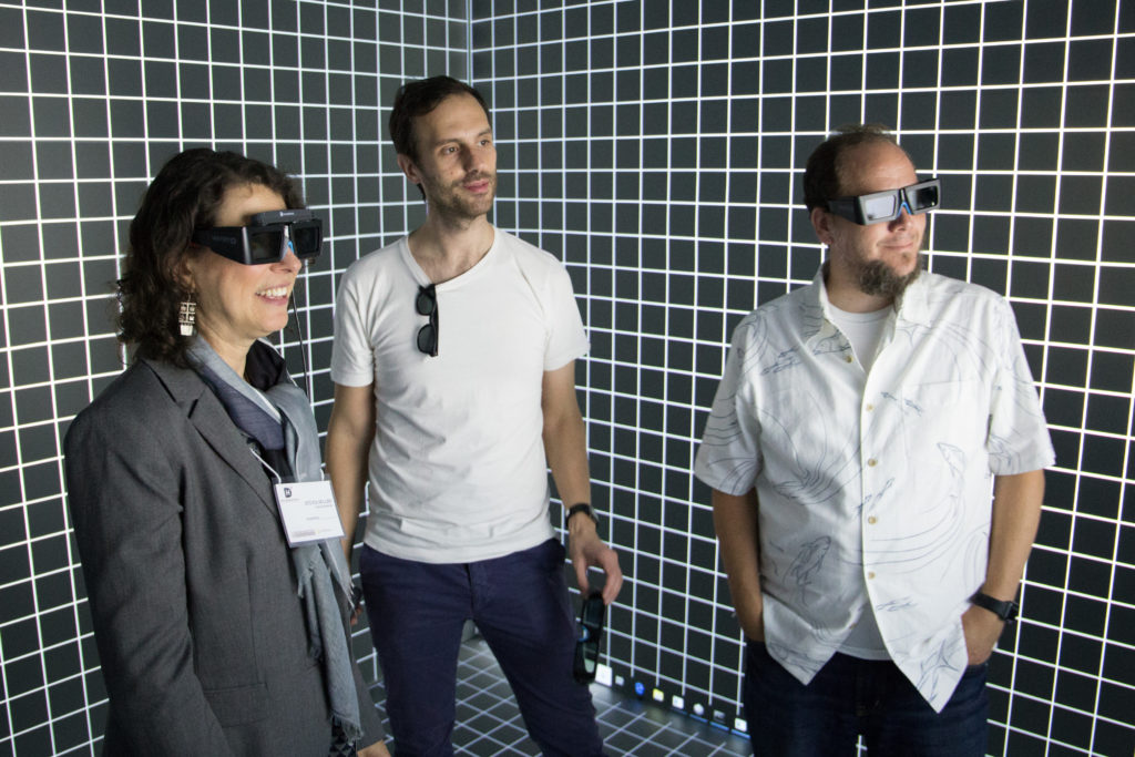 Three VARDHI participants wearing Virtual Reality Glasses