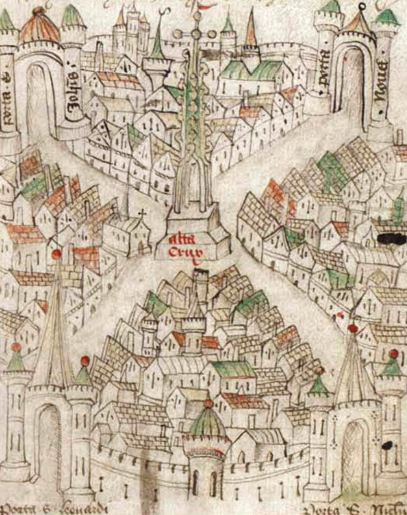 Map of Bristol (the lovely historical city where I reside and about which I hope to write someday) by Robert Ricart (1478).