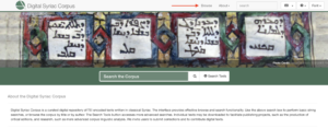 Home page for syriac corpus