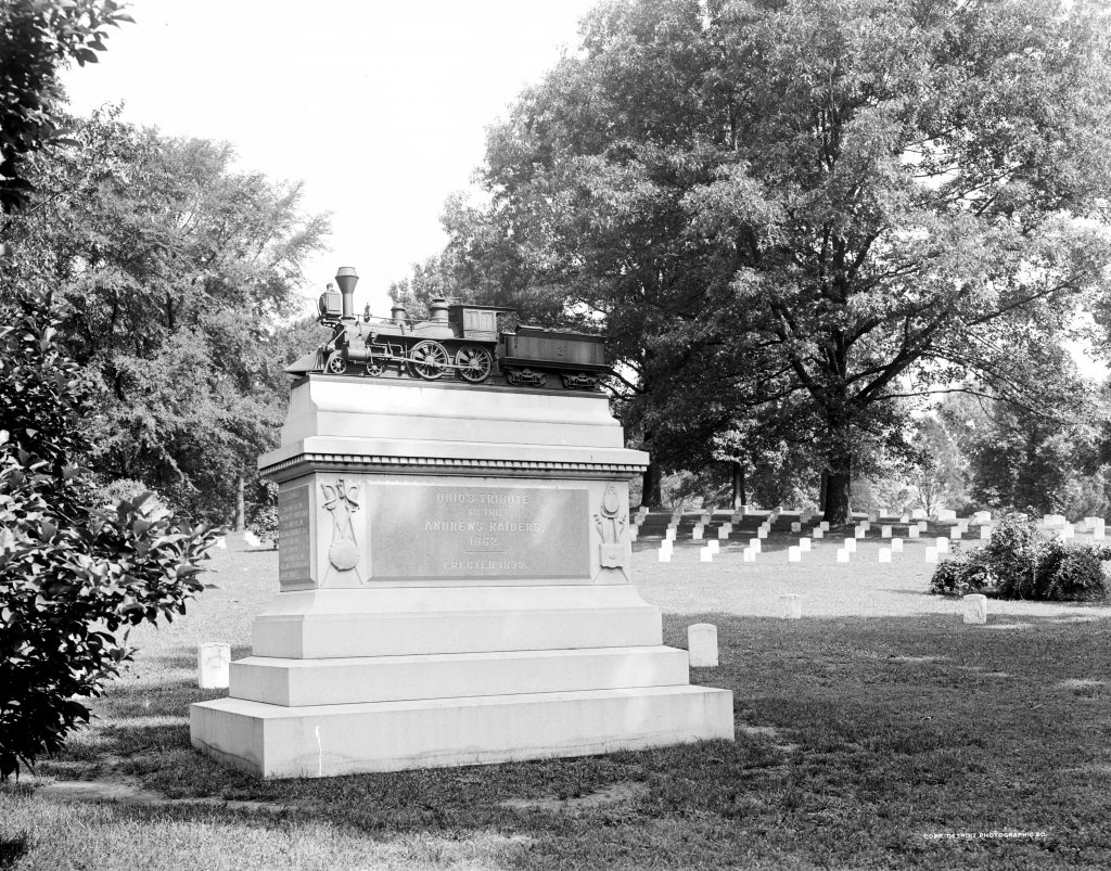 Monument to Andrews' Raiders