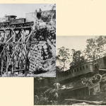 The Firefly (left) and an unidentified train at Bull Run (right)