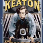 Another Kino DVD cover showing Keaton on the cowcatcher
