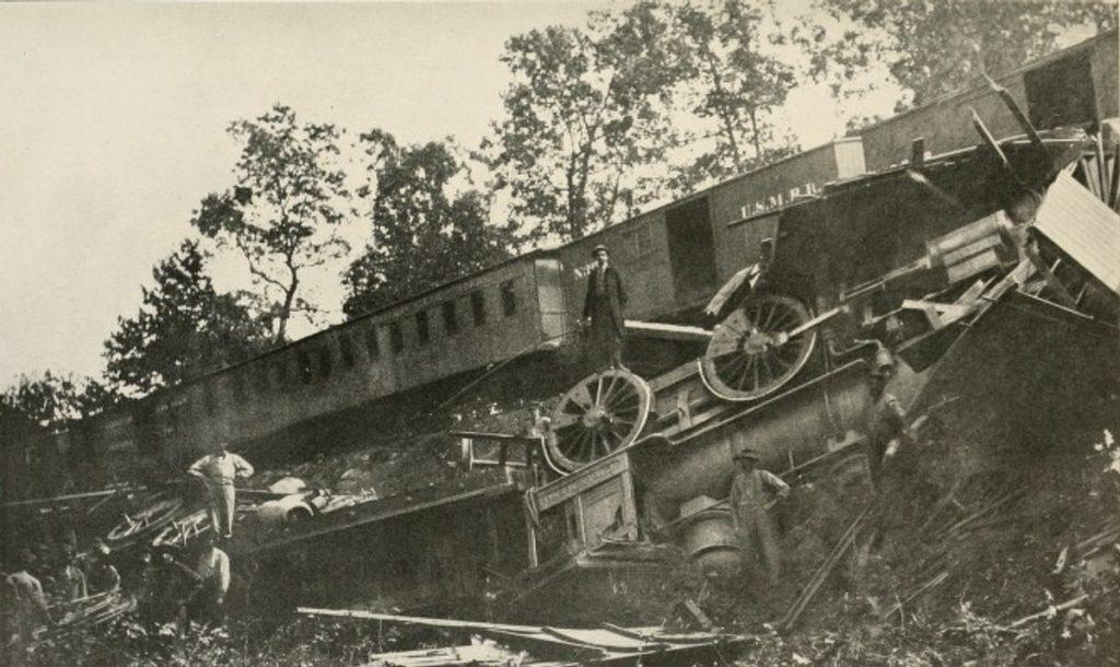 train wreck at Bull Run
