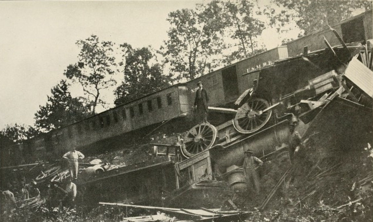 train wreck at Bull Run