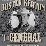 The Kino DVD cover of The General, showing Keaton in sepia tone