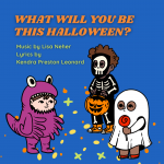 image shows kids in Halloween costumes