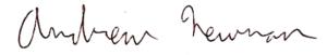 Andrew Newman signature