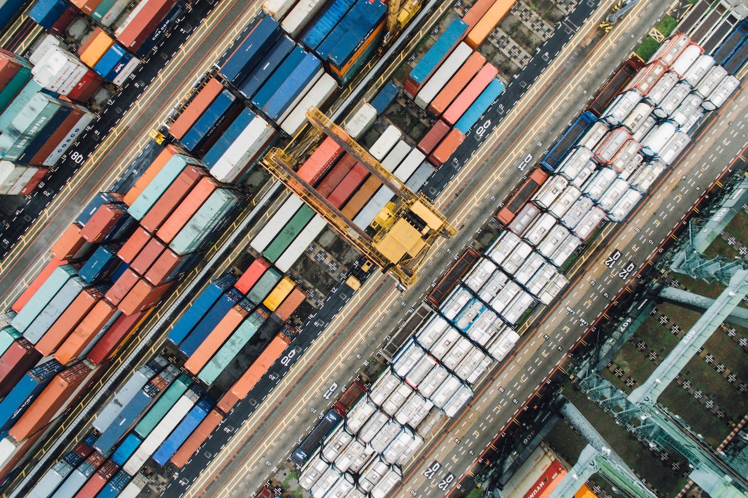 photograph of shipping containers