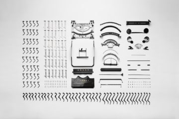 an arrangement of metal parts