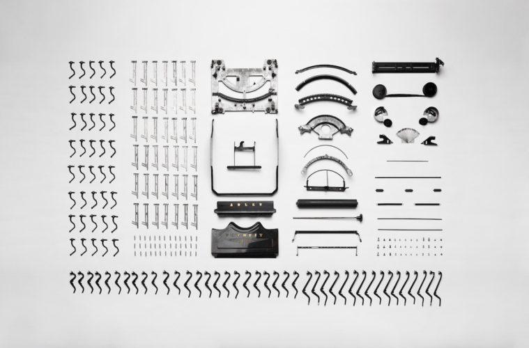an arrangement of metal parts