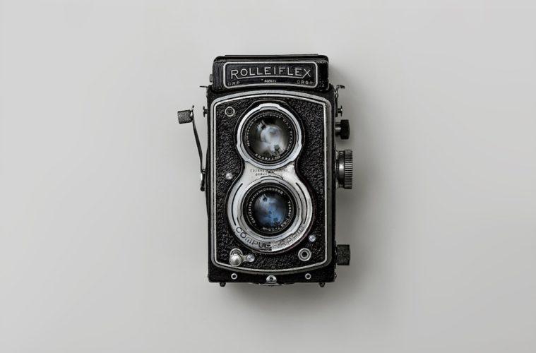 a photo of a rolleiflex camera