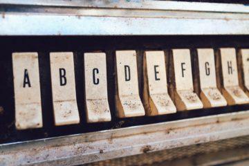 alphabetical jukebox buttons