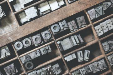 metal letterpress letters