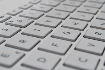 white computer keys