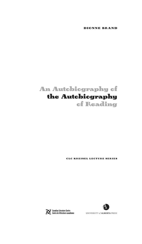 title page of The Autobiography of the Autobiography of Reading