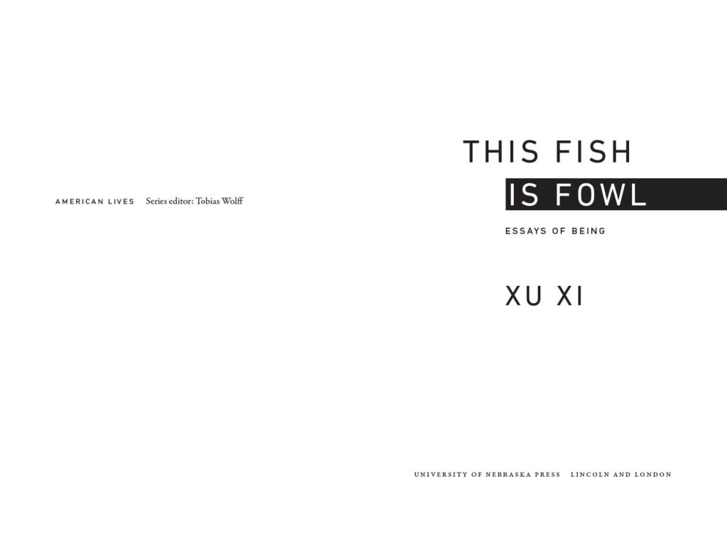 Title spread from This Fish is Fowl