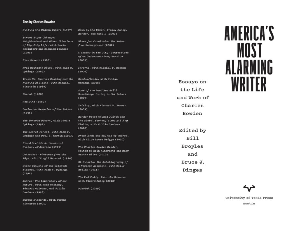 Title spread from America's Most Alarming Writer