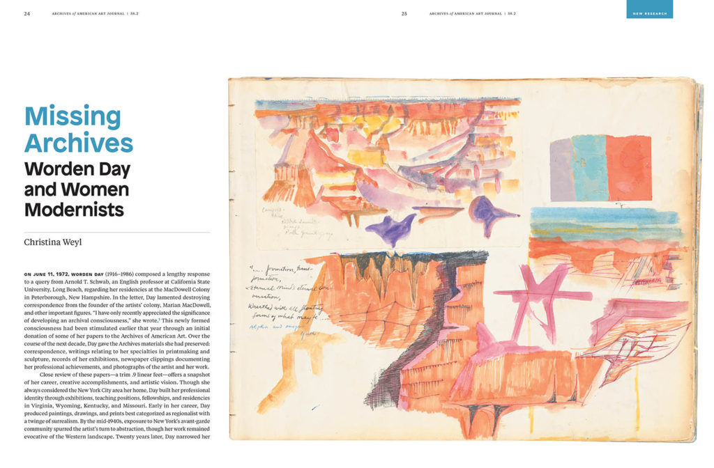 sample spread from AAA Journal 2