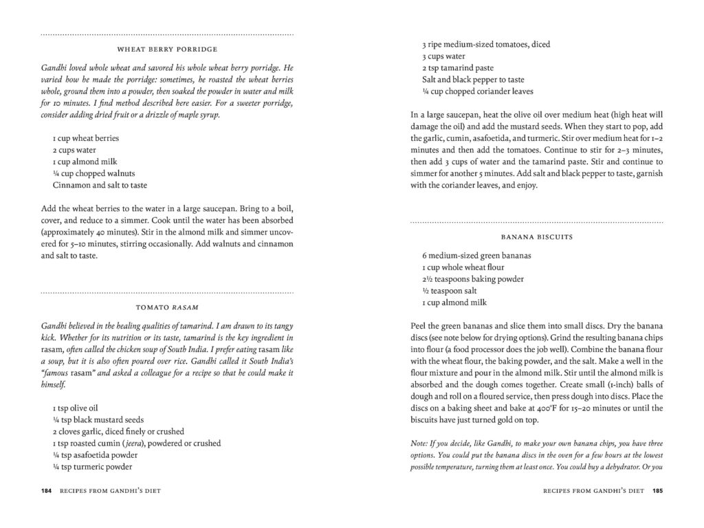 Sample spread from Ghandi's Search 2