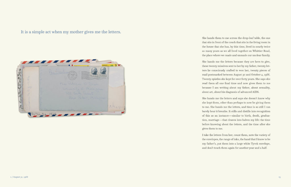 sample spread from These are Love(d) Letters 1