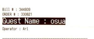 ephemera - name on a bill - osua - for francois