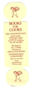 Bookmarker - Books 4 Cooks - hours side - rolling pin shape