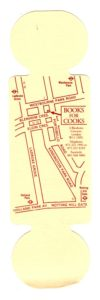 Bookmarker - Books 4 Cooks - map side - rolling pin shape