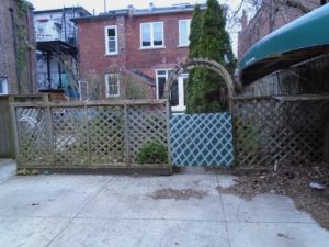 Gate in the Shady Lane - Toronto - April 2020