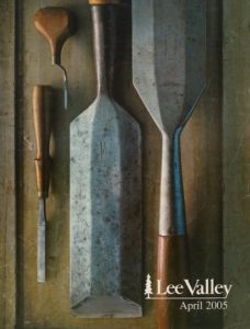 Cover of Lee Valley April 2005 catalogue - chisels