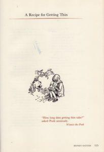 The Pooh Cookbook - Virginia H. Ellison - illustration: Ernest H. Shepard - recipe for getting thin