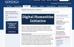 Digital Humanities Initiative page