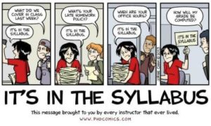 PHD comic on syllabus