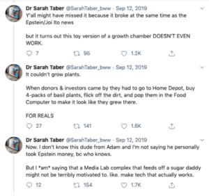 Screenshot of tweet from agriculturalist Sarah Taber